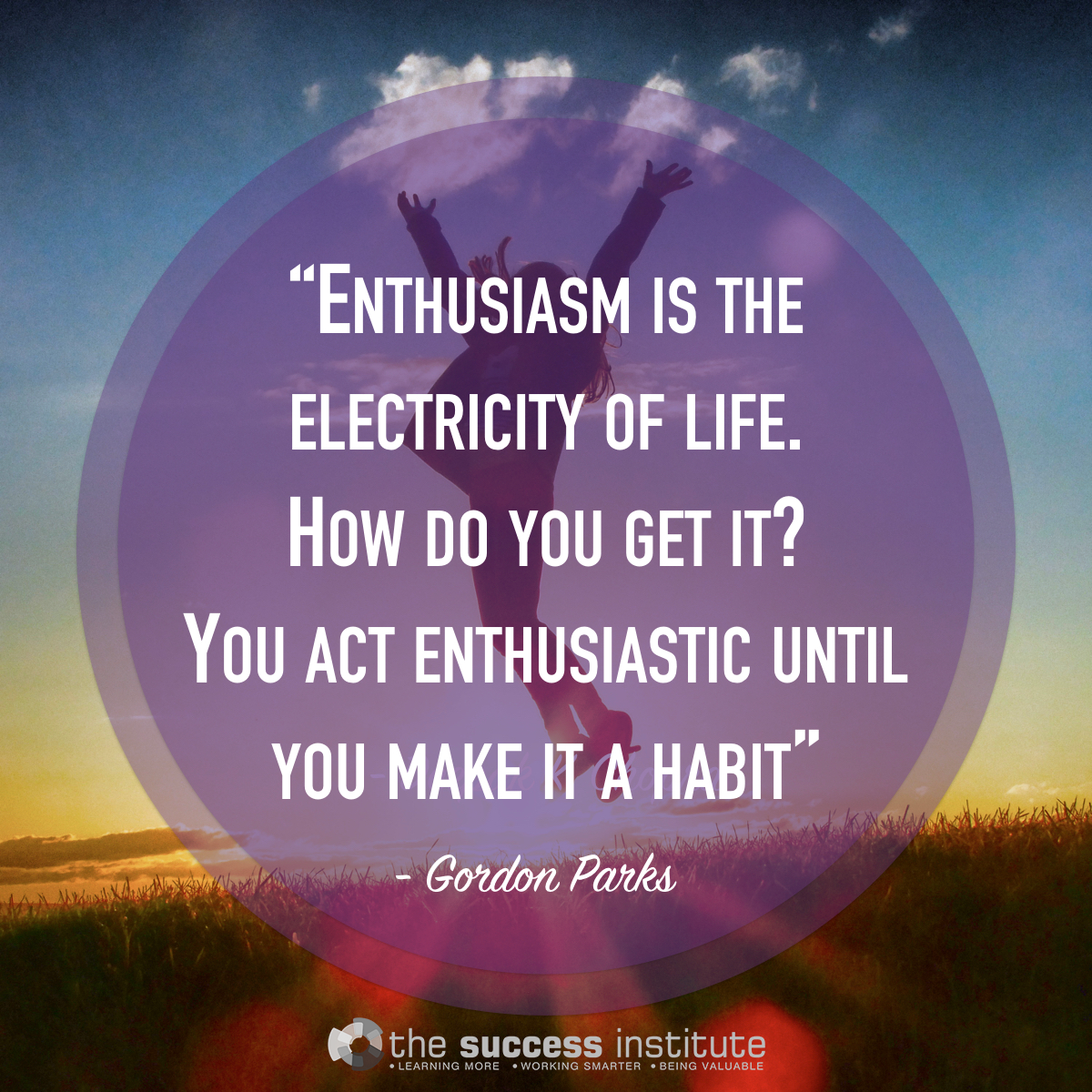Enthusiasm is the electricity of life.