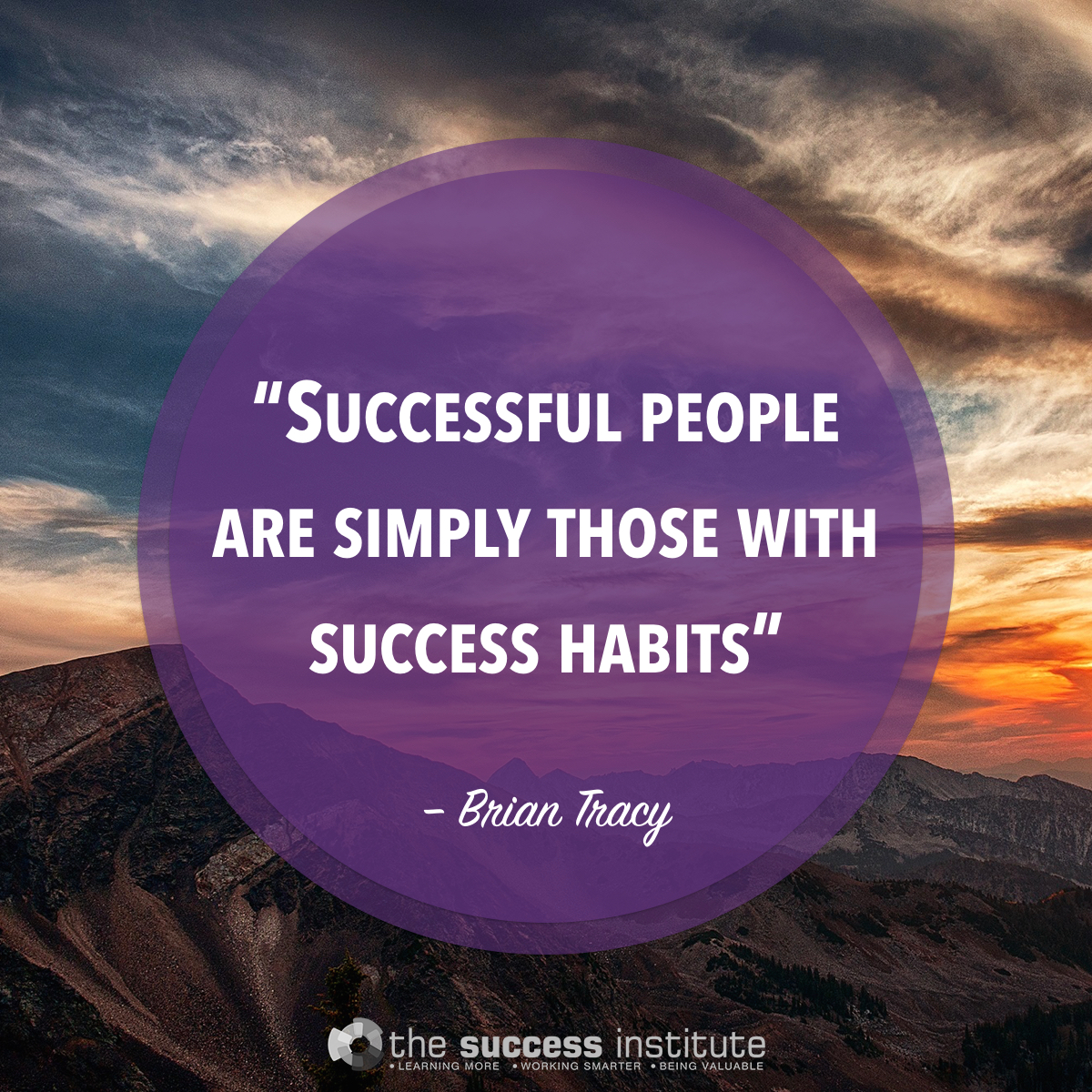 Successful people are simply those with success habits.