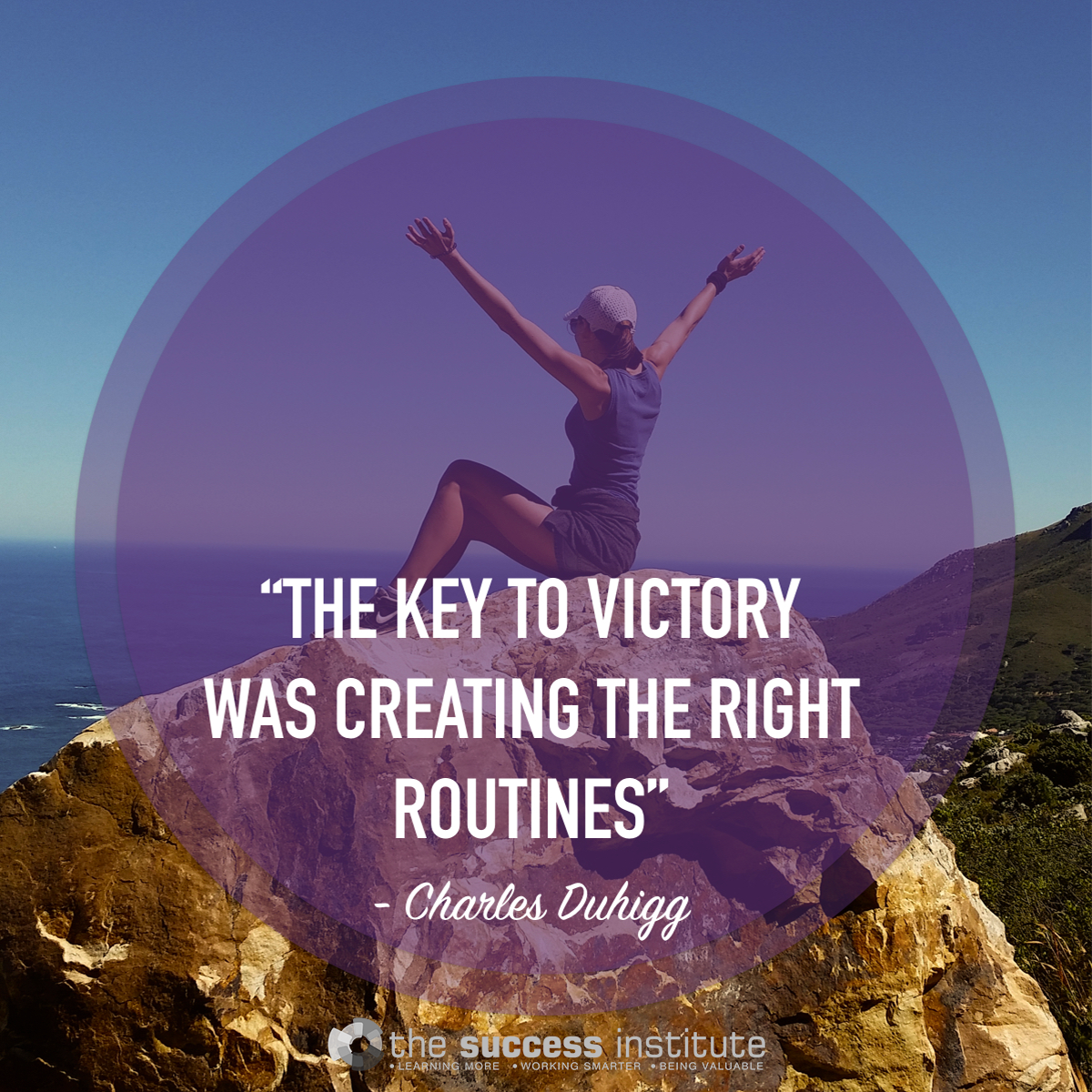 The key to victory was creating the right routines.