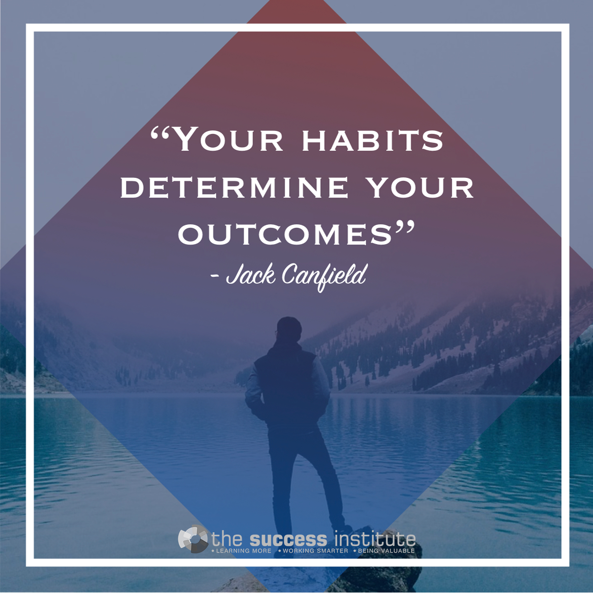 Your habits determine your outcomes.