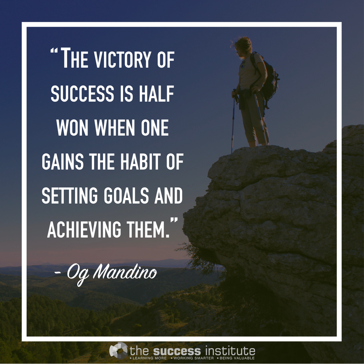 The victory of success is half won.